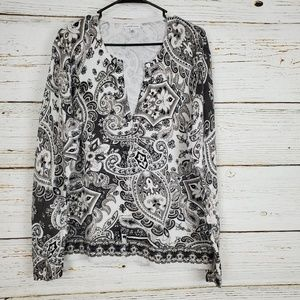 Croft & Barrow Paisley Print Cardigan